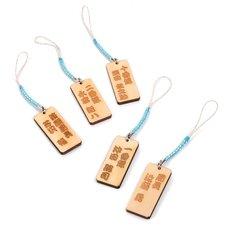 Souvenir Japan Shinsengumi Kifuda Netsuke Wooden Tag Collection