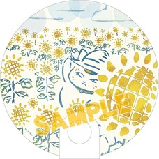 Natsume's Book of Friends Nyanko-sensei Sunflowers Clear Fan
