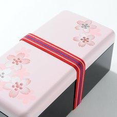 Sakura Pink Maki-e Printed Bento Box