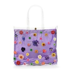 FLAPPER Pressed Flower Clear Vinyl Tote Bag