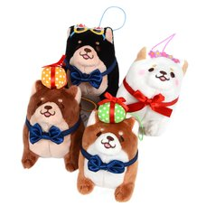 Chuken Mochi Shiba Rice Shop Birthday Standing Mini Strap Plush Collection