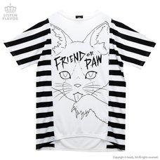 LISTEN FLAVOR Side Stripe Cat Big Cutsew