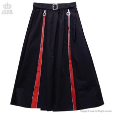 LISTEN FLAVOR Zipper Detail Long Skirt