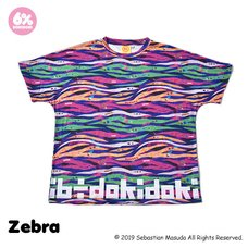 6%DOKIDOKI Colorful Rebellion Animal Zebra T-Shirt