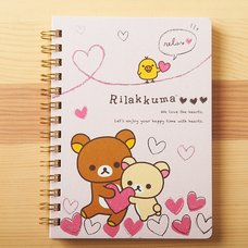 Rilakkuma Medium Notebook (Full of Hearts)