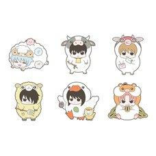 Gintama Prince of Hata's Animal Paradise Love & Peace Firm Rubber Mascot Box Set