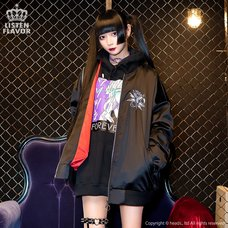 LISTEN FLAVOR Secret Ritual Shirred Sleeve MA-1 Jacket