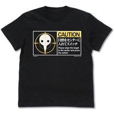 Evangelion Angel Caution Logo Black T-Shirt