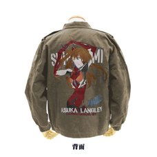 Rebuild of Evangelion Asuka Langley Shikinami Embroidered Olive Tour Jacket