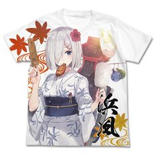 Kantai Collection -KanColle- Hamakaze Yukata Ver. White Graphic T-Shirt