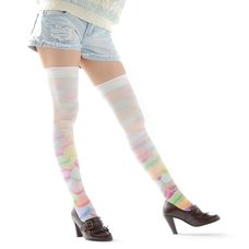 Zettairyoiki Macaroon Thigh-High Tights