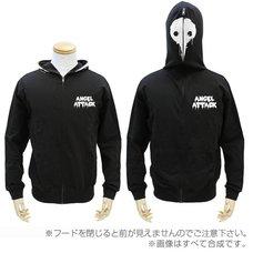 Evangelion Angel Black Full-Zip Hoodie