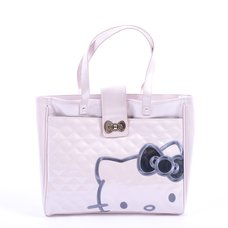 Hello Kitty Pink Quilted Structured Tote Bag