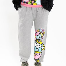 Mameshi-Pamyu-Pamyu Mame Pamyu & Friends Fleece-Lined Sweatpants