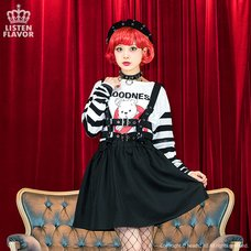 LISTEN FLAVOR Flared Skirt w/ Harness Belt