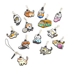 Neko Atsume 3-Way Rubber Straps Vol. 2