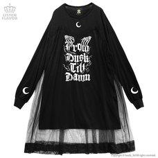 LISTEN FLAVOR Midnight Tulle Cutsew Dress