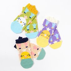 KOTORITACHI Budgerigar Printed Socks (Feather Pattern)