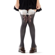 Zettairyoiki Lace Thigh-High Tights