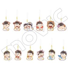 Osomatsu-san Zodiac Rubber Strap Collection Box Set