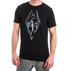 Skyrim Logo Men's Black T-Shirt