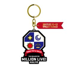 The Idolm@ster Million Live! 4th Live: Th@nk You for Smile!! Official Keychain