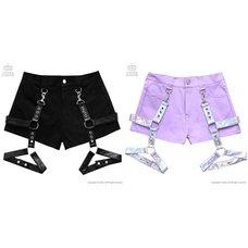 LISTEN FLAVOR Detachable Harness Garter Belt Shorts