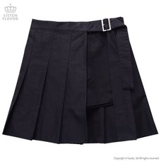 LISTEN FLAVOR Shorts w/ Wrap-around Pleated Skirt