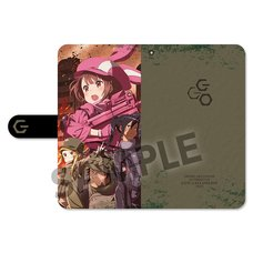 Sword Art Online Alternative: Gun Gale Online Key Visual Notebook-Style Smartphone Case