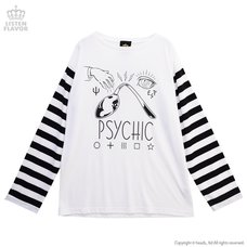 LISTEN FLAVOR Psychic Striped Long Sleeve Cutsew