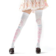 Zettairyoiki Sakura Bunny Blue Thigh-High Tights