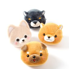 Mameshiba San Kyodai Dog Face Pouches