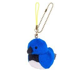 Irotoridori Blue-and-White Flycatcher Keychain Strap