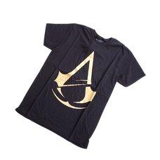 Assassin's Creed Unity Gold Foil Logo Men's Black T-Shirt