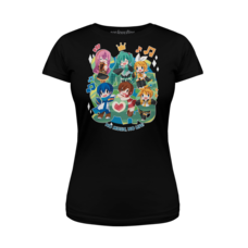 Vocaloid Sing a Song Black Slim Fit Crew Neck Women's T-Shirt