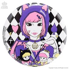LISTEN FLAVOR x Keisuke Saito Devil & Angel Collab Pin Badge