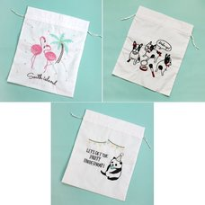 Cou Cou Chouette Embroidered Pouches