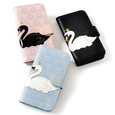 FLAPPER Swan Appliqué Smartphone Flip Case