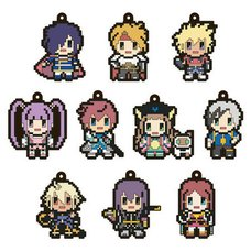 Tales Series Pixel Art Rubber Strap Set