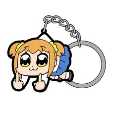Pop Team Epic Popuko Fxxk Off Tsumamare Keychain
