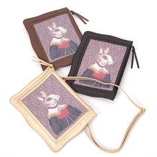 FLAPPER Rabbit Portrait 2-Way Clutch