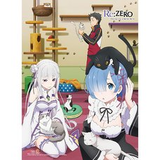 Re:Zero Characters & Cats Premium Wall Scroll