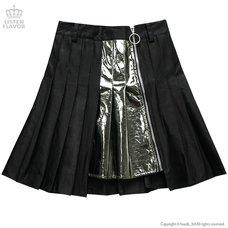 LISTEN FLAVOR Zip Pleated Skirt