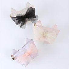 Honey Salon Cat Ear Ribbon Tissue Case