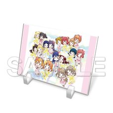 Love Live! General Magazine Vol. 1: Love Live! Series μ's & Aqours Acrylic Plate