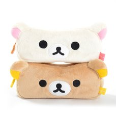 Rilakkuma Face Plush Pen Pouches