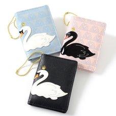 FLAPPER Swan Appliqué Pass Case