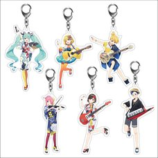 Hatsune Miku Summer Festival Acrylic Keychain Collection