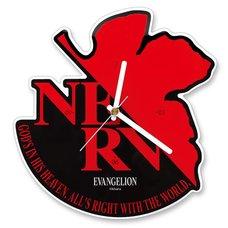 Evangelion NERV Acrylic Wall Clock