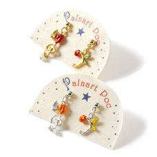 Palnart Poc Floral Music Note Earrings